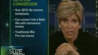 Suze Orman Roth IRA Rollover in 2010 for 401k's