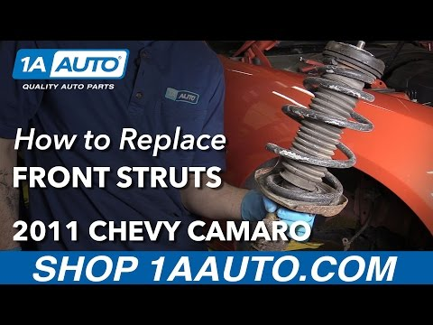 How to Install Replace Front Strut and Spring Assembly 2010-12 Chevy Camaro