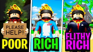 POOR to RICH to FILTHY RICH in Roblox BROOKHAVEN RP!! (Story)
