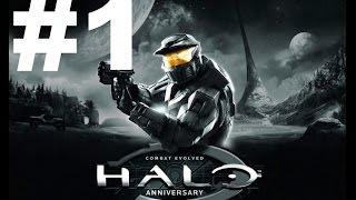 Halo Combat Evolved Anniversary Walkthrough Part 1 - INTRO! (Xbox One Master Gameplay 1080p HD)