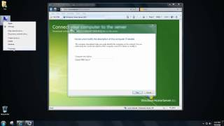 Windows Home Server 2011 - First Time Setup of the Connector, Launchpad and Backup