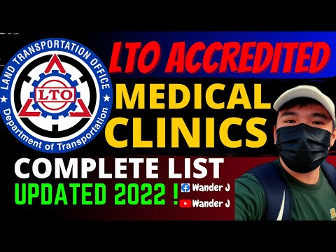 LTO ACCREDITED MEDICAL CLINICS | UPDATED COMPLETE LIST (ALL REGIONS) | 2021 | Wander J
