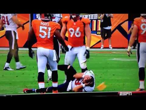 Matt Schaub Losses part of Ear in Hit by Joe Mays HD
