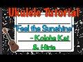 Feel the Sunshine Ukulele Tutorial - Kolohe Kai and Hirie