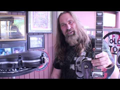 Andrew Bryniarski of Texas Chainsaw Massacre  Dio guitar by Artist Series Guitar