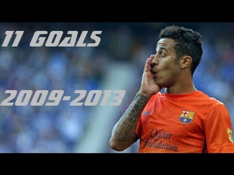 Thiago Alcantara- All 11 Goals Barca ●From FCB to FCB●by IsaacFutbol4hd