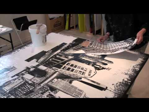 Timelapse - See the Artist Abroad create hand layered photo based mixed media art