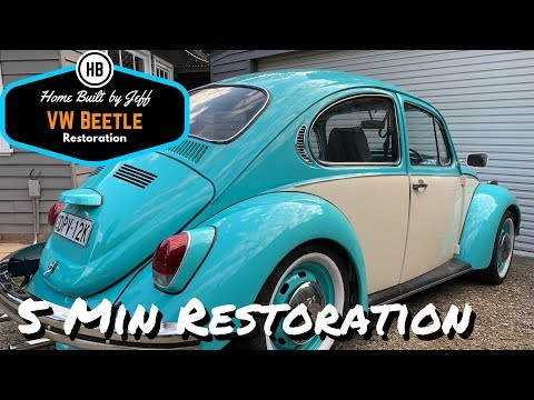 VW Beetle rolling restoration in 5 mins