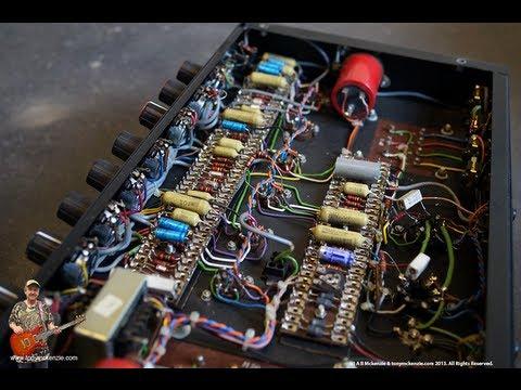 Burman 501 Pro hand made amp 1978 rare inside review of this English guitar amp : tonymckenzie.com
