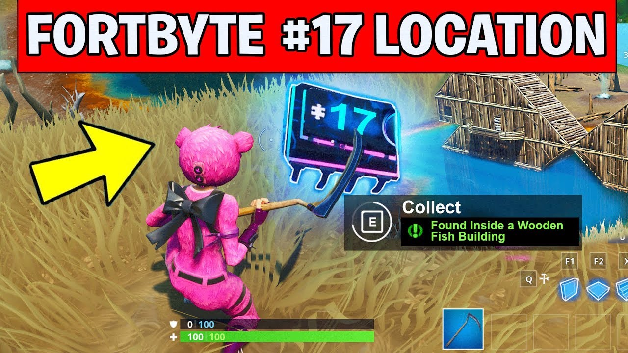 Fortbyte 17 Location Found Inside A Wooden Fish Building Fortnite Fortbyte Challenges 17