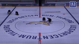 Sportbedrijf Tilburg maakt werk van een perfecte ijsvloer voor Tilburg Trappers.