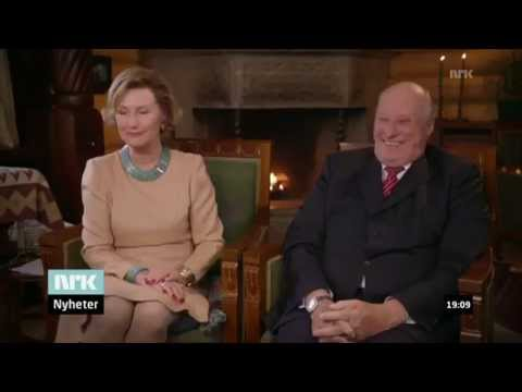 H.M. King Harald V of Norway trolling his wife (w/subtitles)