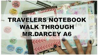travelers notebook walk through   a6   mr darcy   chic sparrow