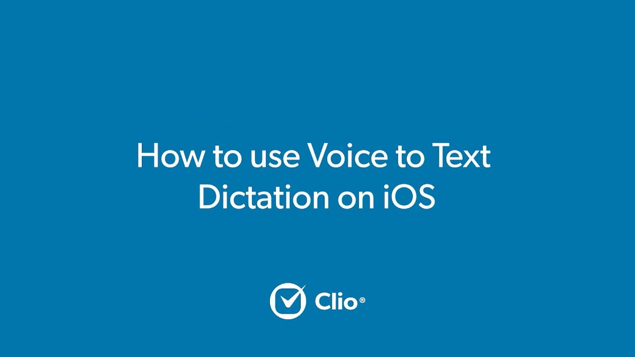 How to Use Voice to Text Dictation on iOS