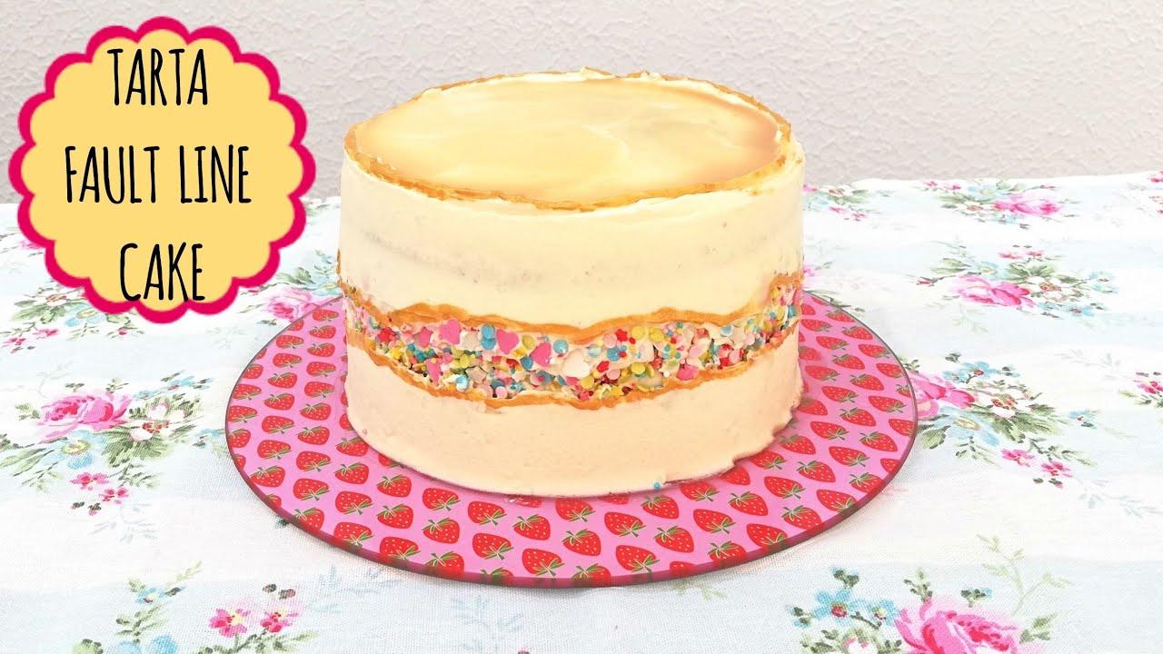 Fault line cake - Tarta tendencia
