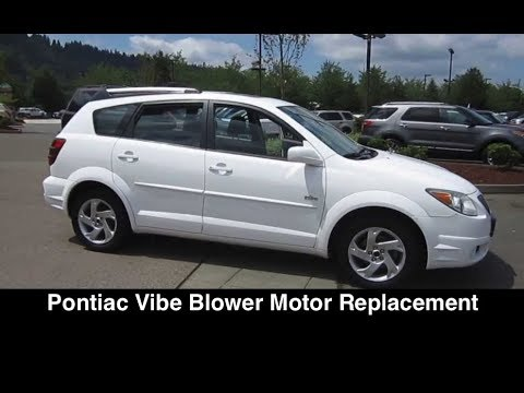 Pontiac Vibe / Toyota Matrix Fan Blower Motor Fix – Replacement
