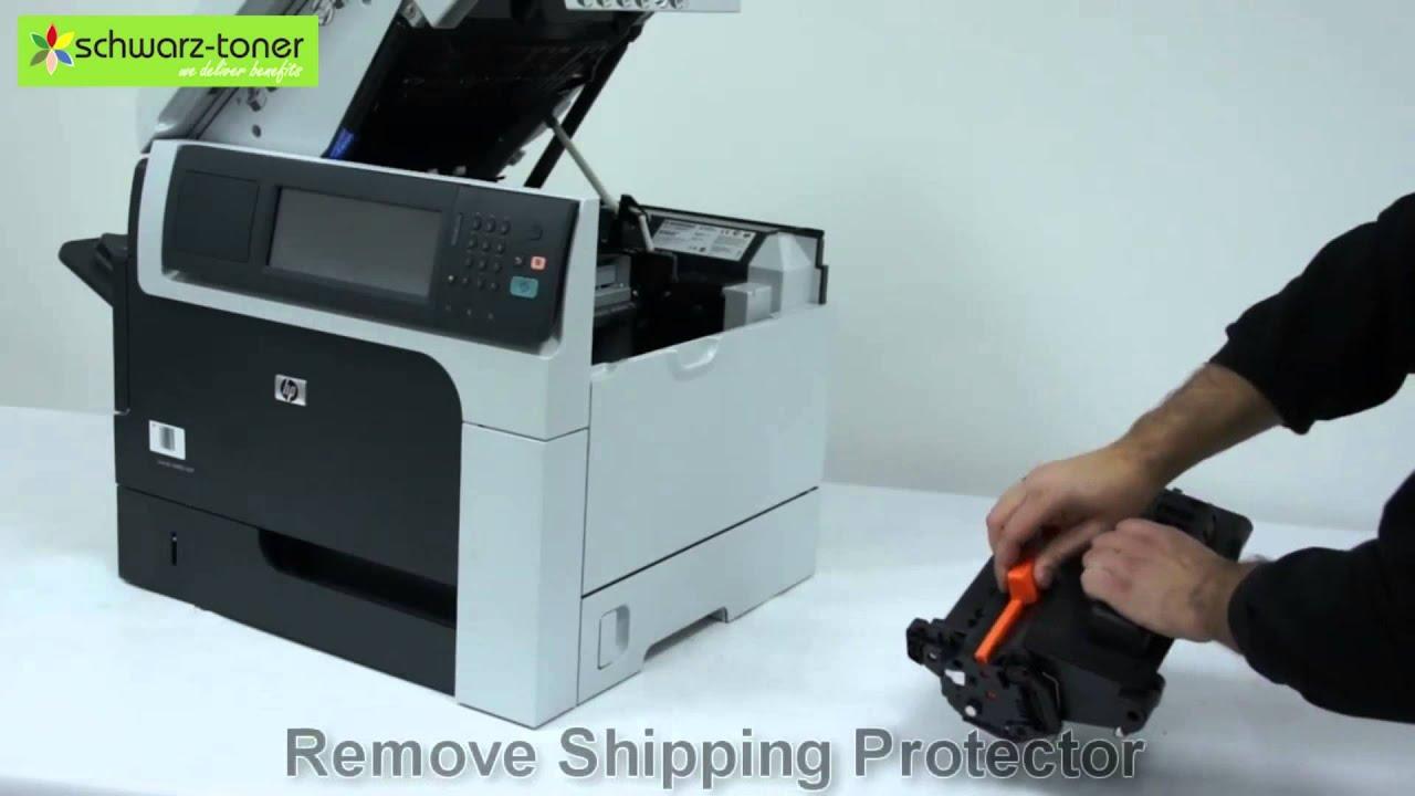 Hp M4555 Toner Cartridge Replacement User Guide 7535
