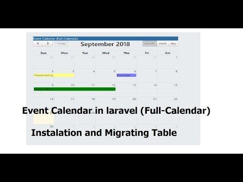 CRUD-Event Calender: Installing (Full-Calender) , Setup Database in Laravel  - Step 1/5