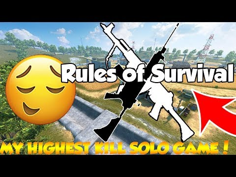 [RosmahGila@RulesOfSurvival] MY HIGHEST KILL SOLO GAME! - RULES OF SURVIVAL (MALAYSIA)