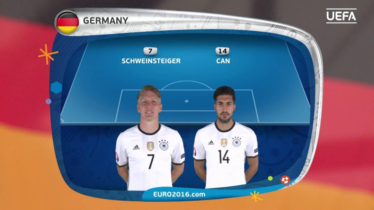 Resultado de imagem para Germany line-up v France: UEFA EURO