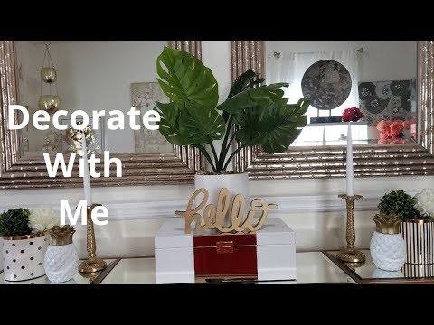 ☀️🍍💎🏝Decorate With Me/ Home Office  Ways To Style Your Credenza #glamhome