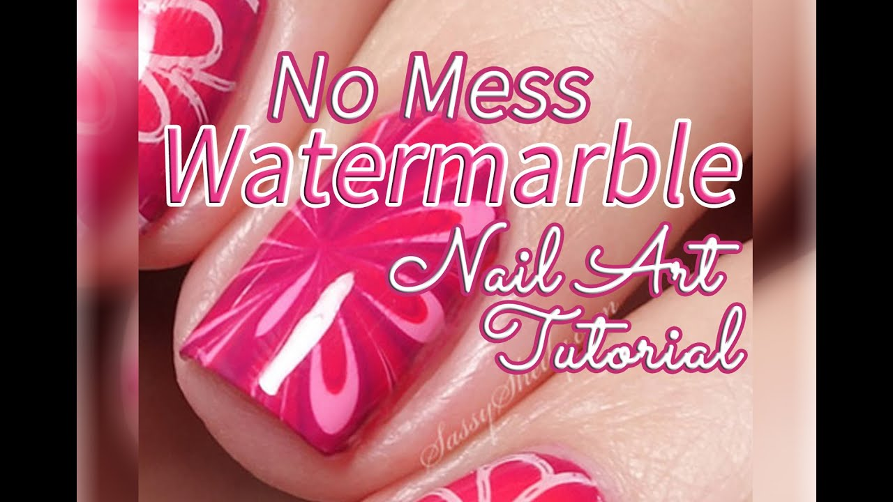 NO MESS WATERMARBLE! | Easy Decal Nail Art Tutorial - YouTube