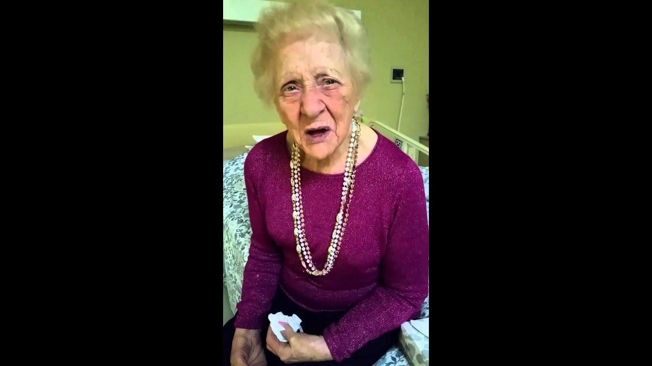 Funny 100 Year Old Great Grandma  - Youtube-3418