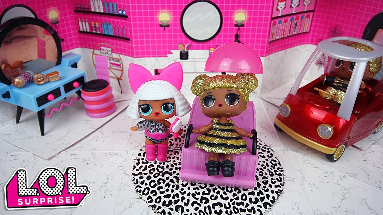 video Le salon de beauté de la poupée LOL Diva et ses surprises