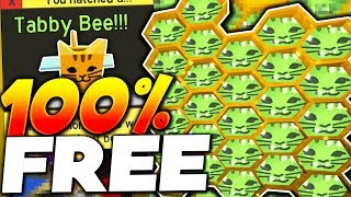 HOW TO GET THE TABBY BEE FOR FREE!! - Roblox Bee Swarm Simulator