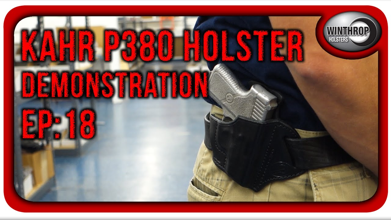 Winthrop Holsters Kahr P380 OWB Leather Gun Holster Demonstration