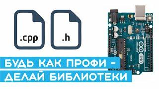#9  Создание библиотек Arduino (драйвер двигателей L298N и ШИМ-сигнал). Уроки Arduino для начинающих