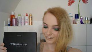 Make-up Look in Grün-Lila |120 Lidschatten Palette | Fitness.Lifestyle.Beauty