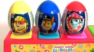 Paw Patrol Pop-Up Pals Surprise Eggs Toys Learn COLORS with Rocky Zuma Rubble Chase