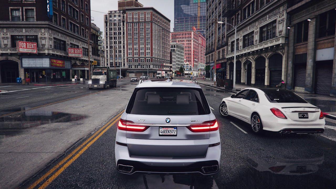 ⁴ᴷ⁶⁰ GTA 5 PC REAL LIFE Graphics - BMW X7 2020 - Gameplay 🔥 GEFORCE RTX™ 2080 Ti & i9-9900k