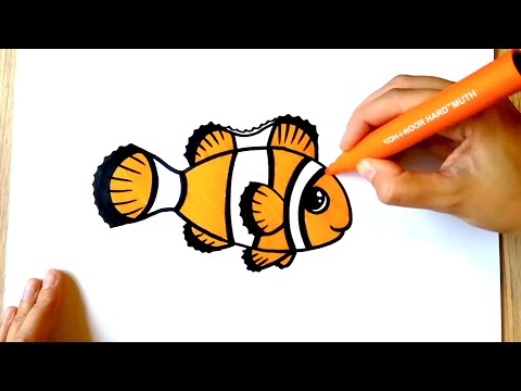 HOW TO DRAW A Clownfish - Coloring With Markers