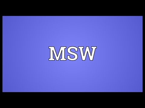 MSW Meaning