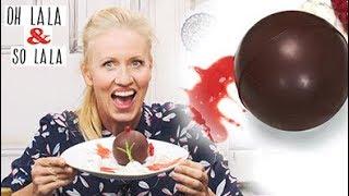 Überraschungs Dessert für das perfekte Dinner *  Rosmarin Vanilleeis & Schokokugel * vegan