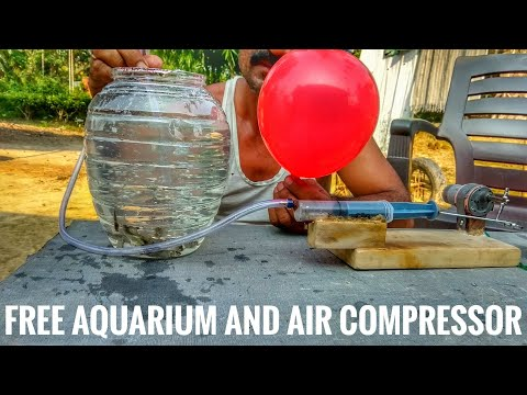 Free aquarium and air compressor || how to make || at your home ||