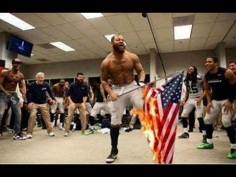 Did An Nfl Player Burn An American Flag In A Locker Room