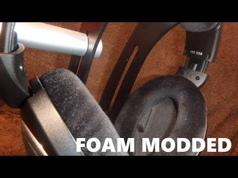 How to do the Sennheiser HD 558 Foam Mod