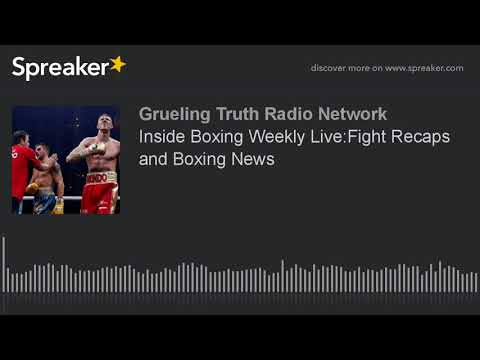 Inside Boxing Weekly Live:Fight Recaps and Boxing News