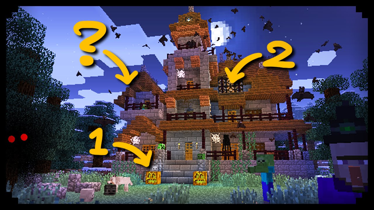 minecraft 10 ways to spookify your house youtube
