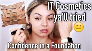 New! Confidence in a Foundation It Cosmetics Review Oily Skin