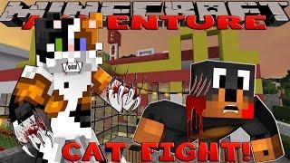 Minecraft - Donut the Dog Adventures -CAT FIGHT!!!!
