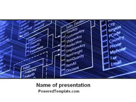 Database Structure Powerpoint Template By Poweredtemplate Com Youtube