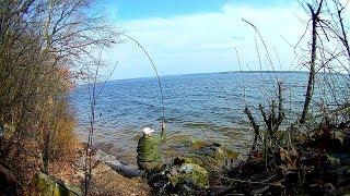 Первая рыбалка сезона на водохранилище Ловля на фидер плотва и окунь