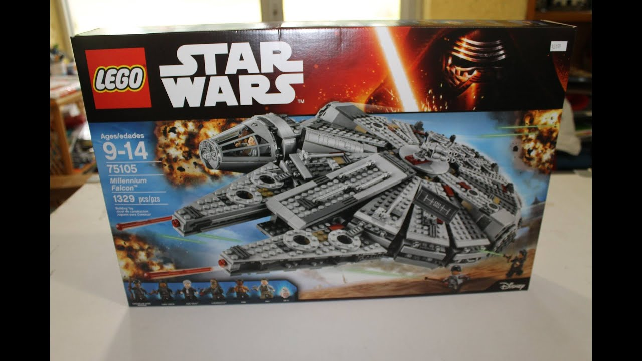 Unboxing star wars halcon milenario 75105 lego mexico - Piezas lego gigantes ...