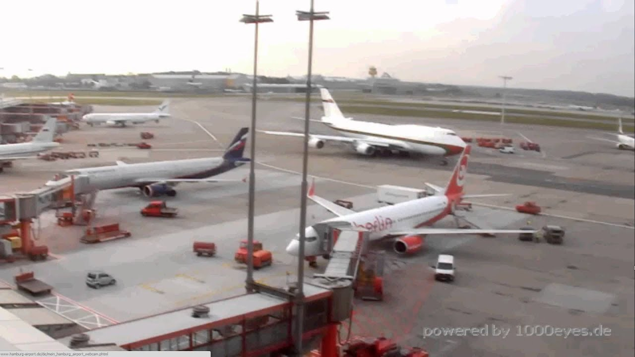 omani royal flight 747 a4o omn hamburg webcam capture youtube. Black Bedroom Furniture Sets. Home Design Ideas