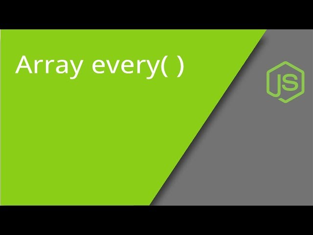 JavaScript Array every method