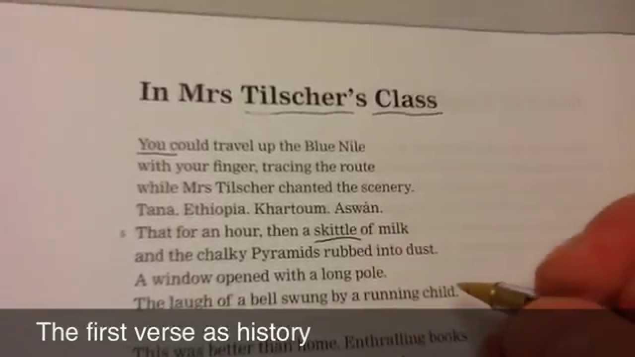 """In Mrs Tilscher's class"" by Carol Ann Duffy Essay Sample"